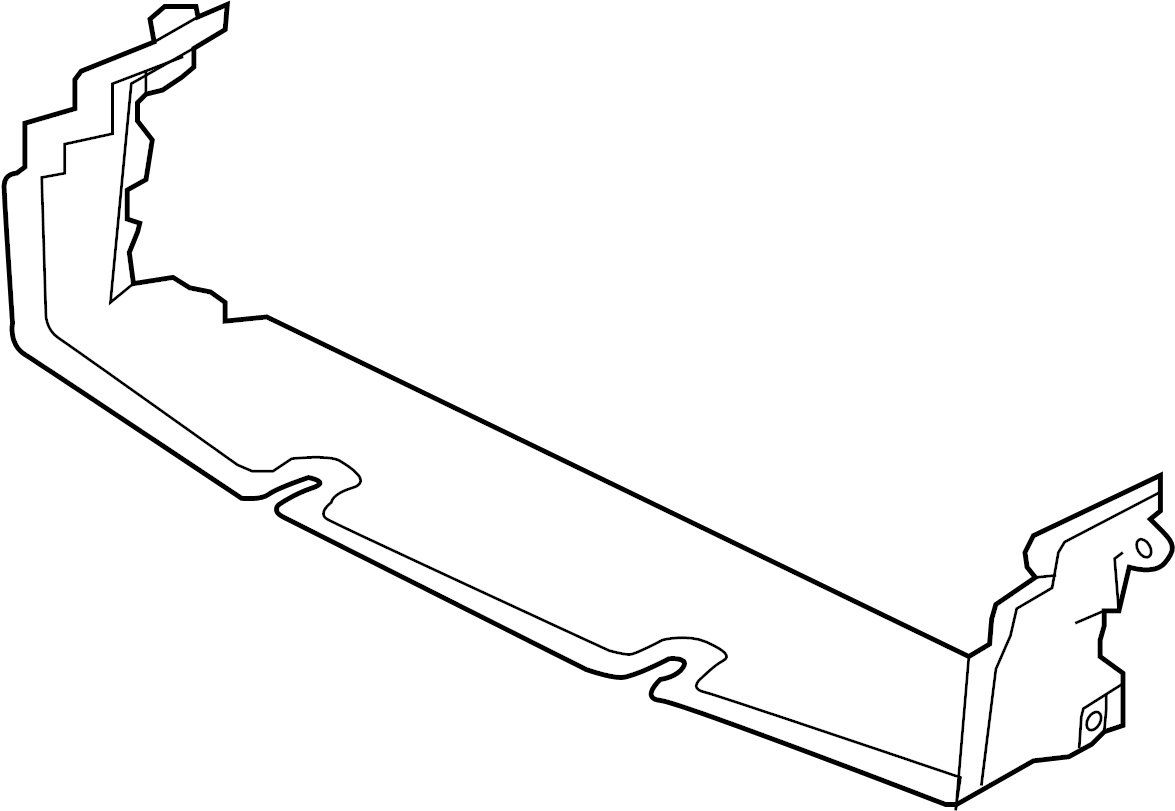 Jaguar XF Deflector shield. Lower deflector. Radiator