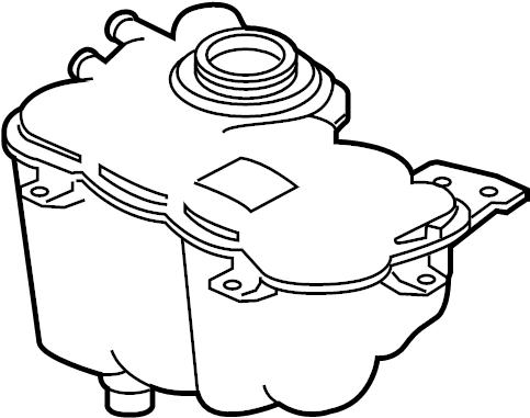 Jaguar XF Engine Coolant Reservoir. Radiator, LITER, GAS