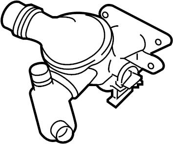 Jaguar XF Engine Coolant Thermostat Kit. DIESEL, LITER
