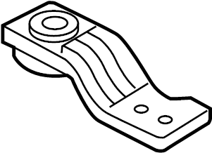 Jaguar XF Radiator upper bracket. LITER, MAIN, HOSES