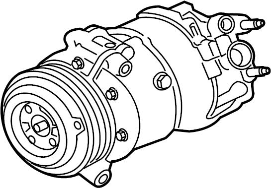 Jaguar XJ Air conditioning (a/c) compressor. Assembly