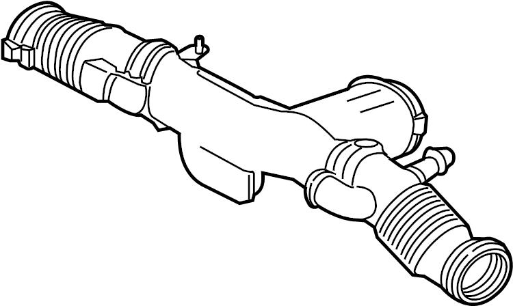 Jaguar XF Air inlet tube. Engine Air Intake Hose. TUBE