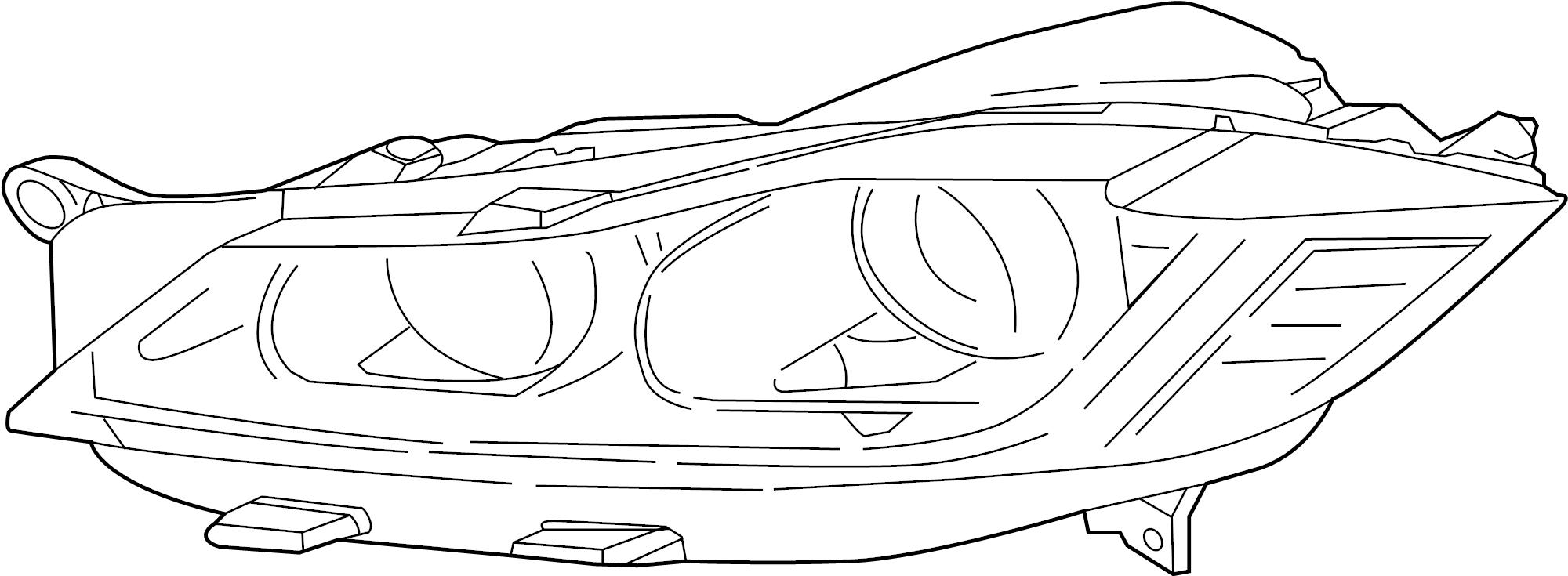 Jaguar F-Pace Headlight. F-Pace; w/Xenon Headlamps; Right