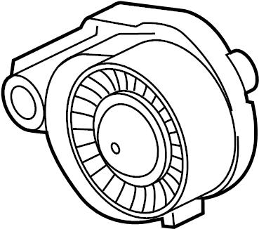 Jaguar XF Belt tensioner. SERPENTINE TENSIONER. Tensioner