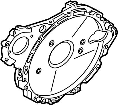 Jaguar XF Engine Timing Cover (Front, Lower). 2.0 LITER