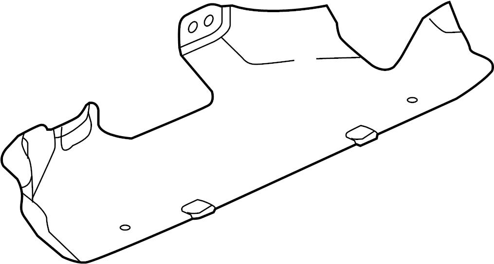 Jaguar XF Heat shield. HEATSHIELD. 2.0 LITER DIESEL, lower