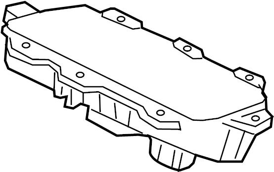 Jaguar XE Instrument Panel Air Bag. BagS, Inflator, Module