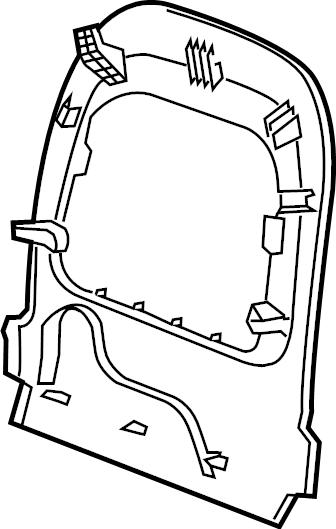 Jaguar XF Seat Back Panel (Rear). SEATS, Jet, Front