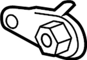 Jaguar XF Suspension Control Arm Nut (Rear, Lower). Right