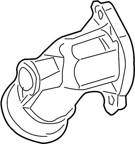 Jaguar F-Pace Engine Coolant Crossover Pipe. Engine