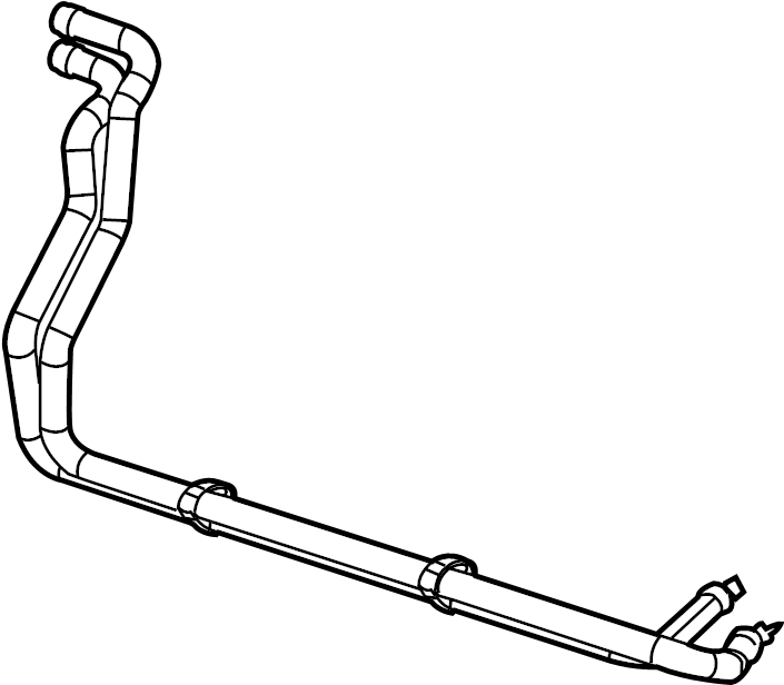 Jaguar XF Hvac heater hose assembly. Make, repair