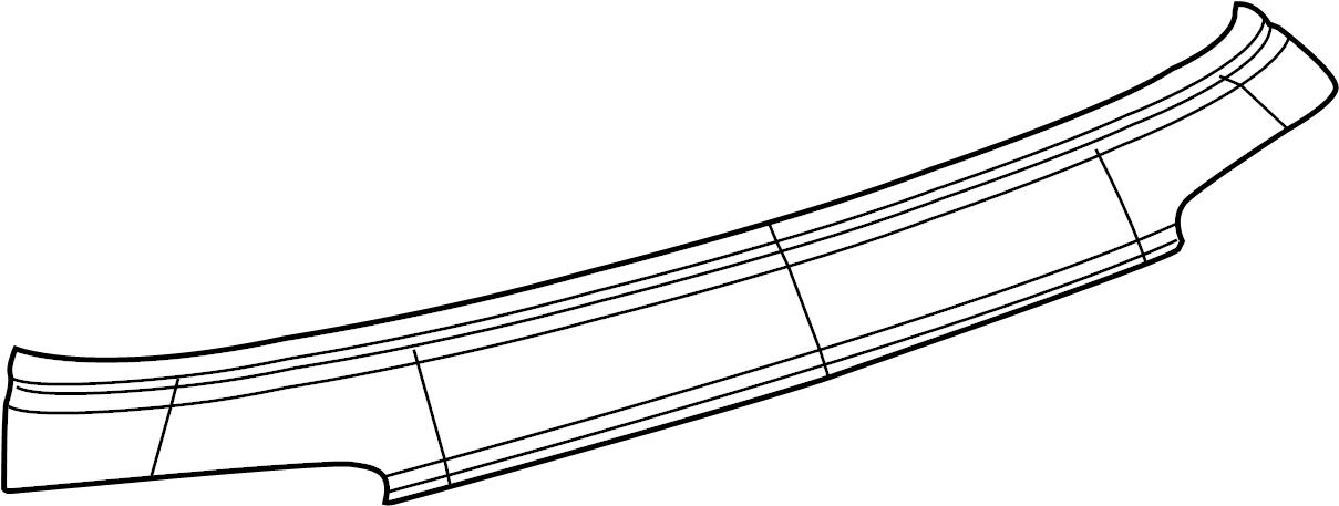 Jaguar XF Liftgate Finish Panel (Rear). Chrome. Molding