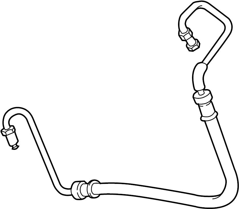 Jaguar XJS Power Steering Pressure Hose. Pump, Cylinder