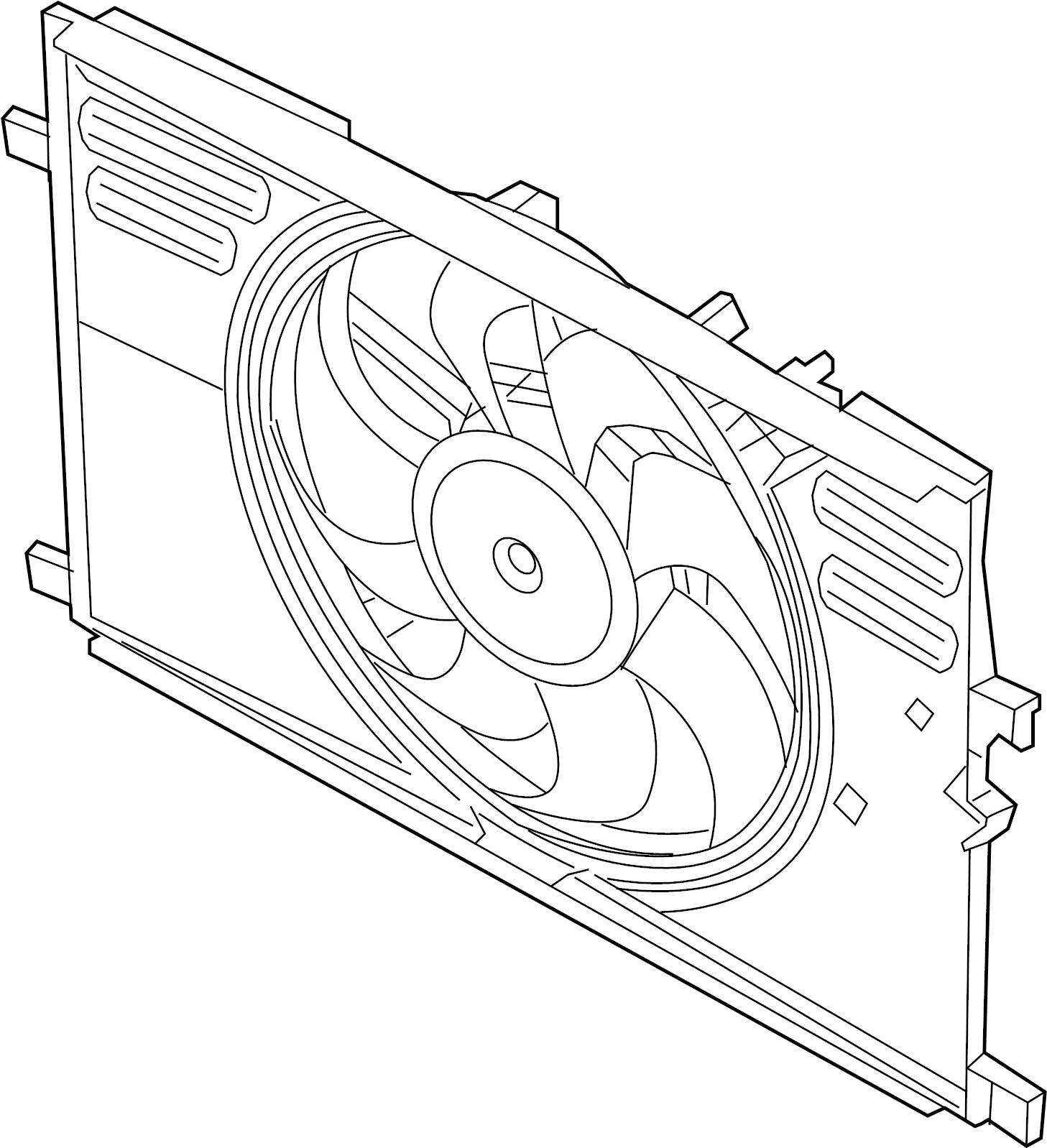 Jaguar F-Pace Engine Cooling Fan Assembly. 2.0 LITER GAS