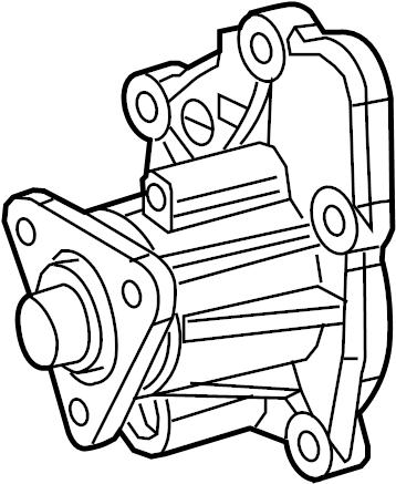Jaguar XJS Engine Water Pump. Cooling, Belts, Convertible