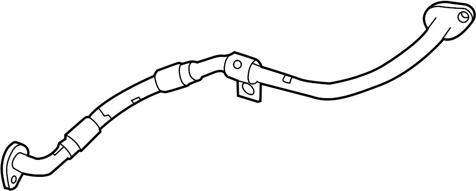 Jaguar XF Engine Coolant Bypass Pipe. LITER, DIESEL