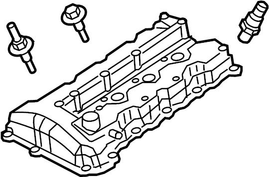 Jaguar S-Type Engine Valve Cover (Upper). 4.0 LITER. XJ