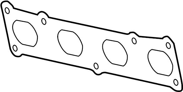 Jaguar XJS Exhaust Manifold Gasket. Gasket. Manifold