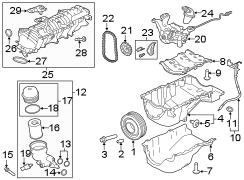 Jaguar XE Filter. Ring. Oil. Engine. Adapter Seal