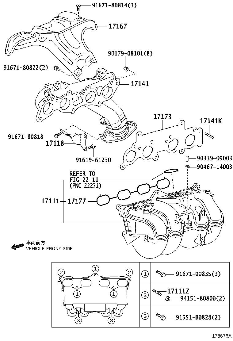 Toyota 4Runner Catalytic Converter with Integrated Exhaust