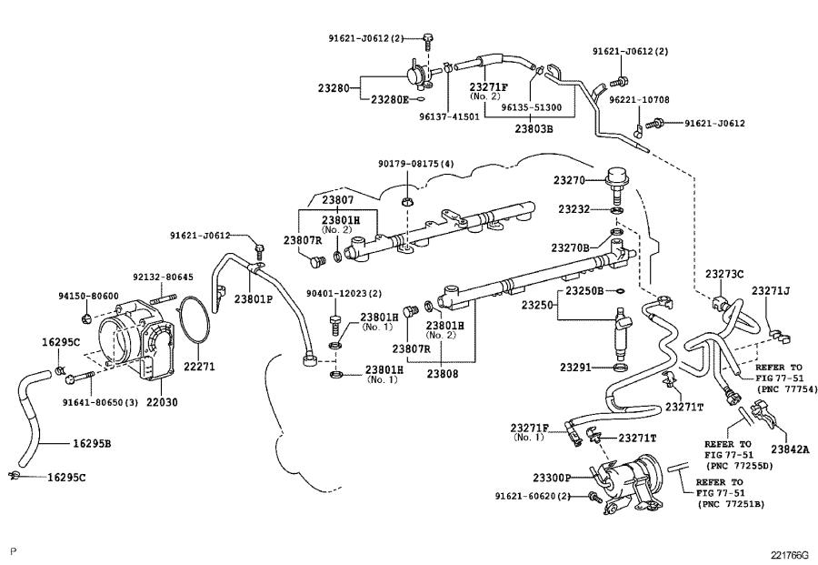 Toyota Land Cruiser Hose, fuel. System, injection