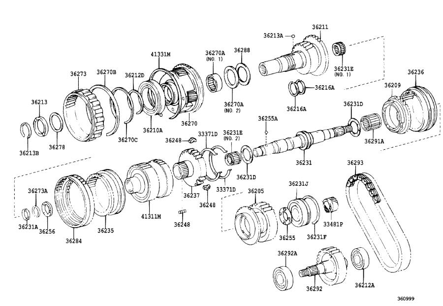 Toyota Sequoia Gear assembly, transfer low planetary