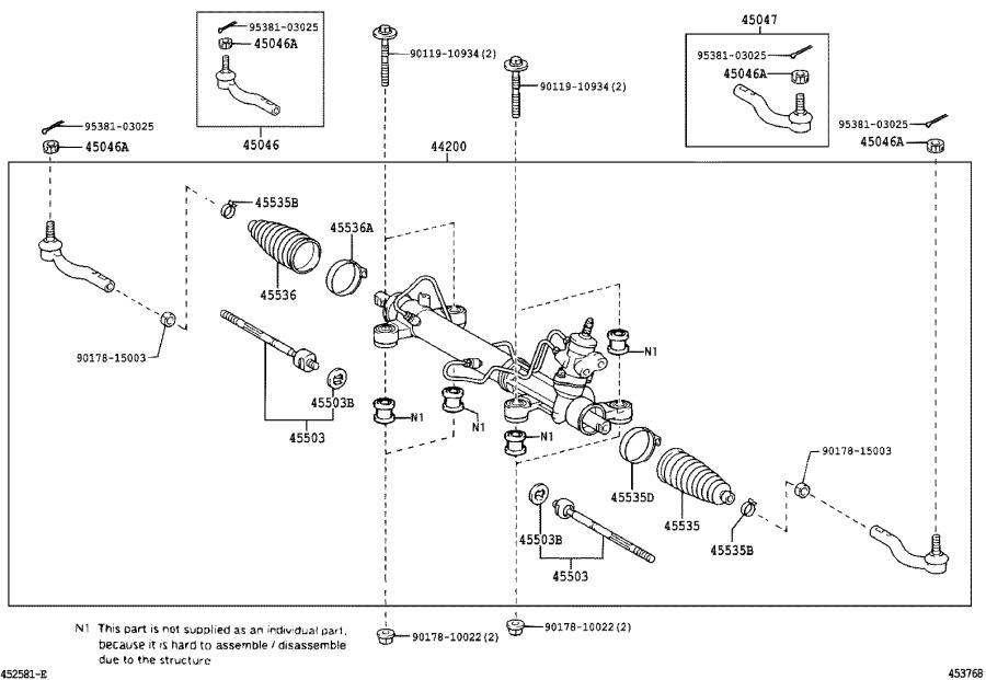 Scion TC Rack and Pinion. Link, Power Steering