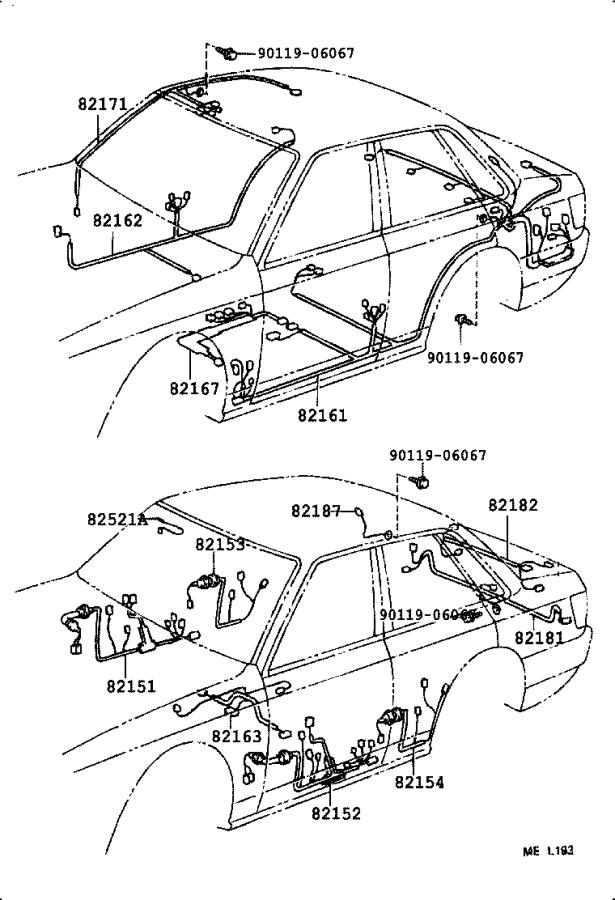 Toyota Camry Wire, floor. Clamp, electrical, wiring