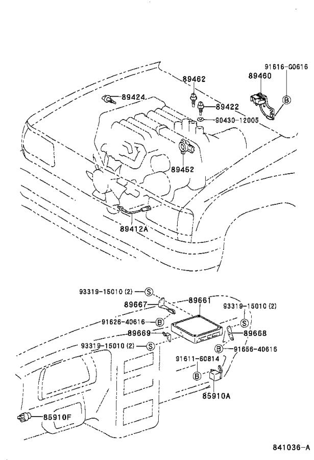 Toyota T100 Computer, engine control. Electrical
