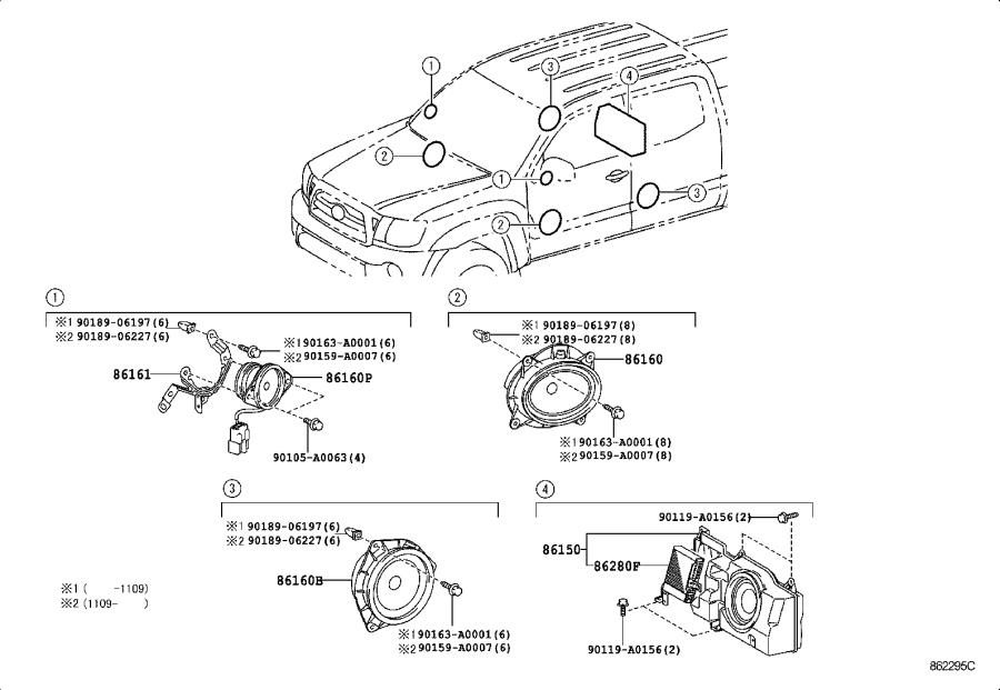 Toyota Tacoma Radio Amplifier. Amplifier, Stereo Component