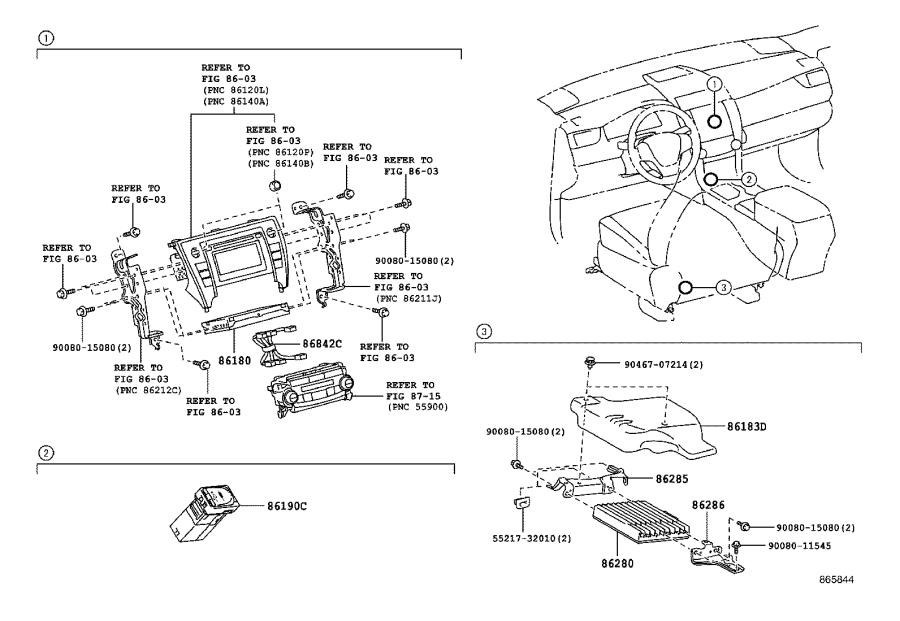 Toyota Camry Tuner assembly, stereo component. External