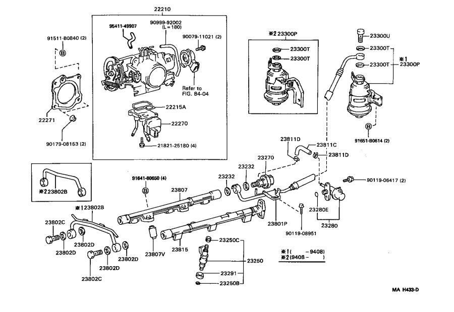 Toyota Camry Body assembly, throttle. System, fuel