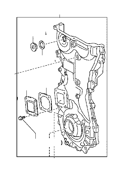 Toyota Camry Cover sub-assembly, timing chain or belt