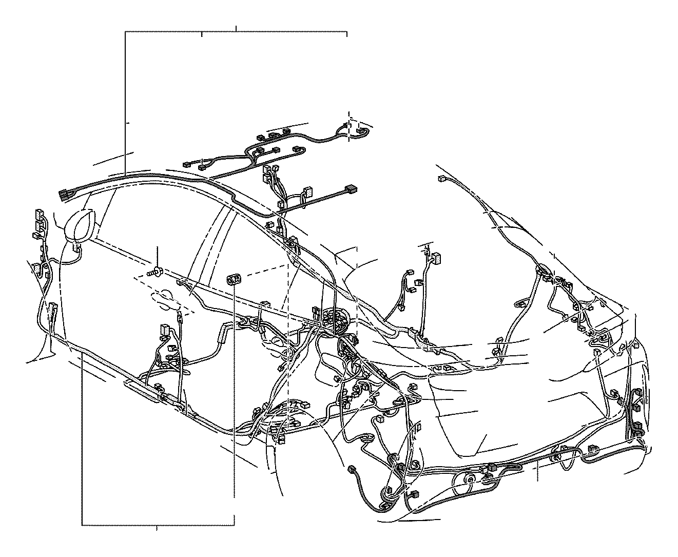 Toyota Prius Wire, roof, no. 1. Engine, floor, connector
