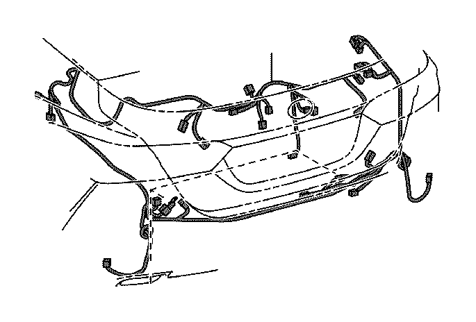 Toyota Camry Wire, luggage room, no. 1. Wiring, clamp