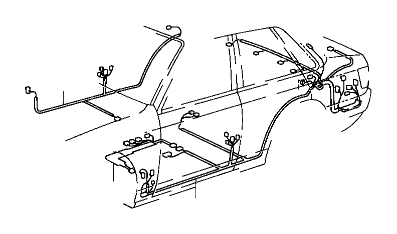 Toyota Camry Wire, floor. Wiring, clamp, electrical