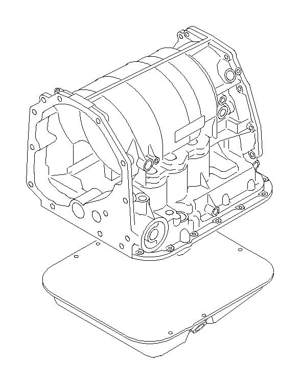 2003 Subaru Legacy Oil pan complete-transmission. Case