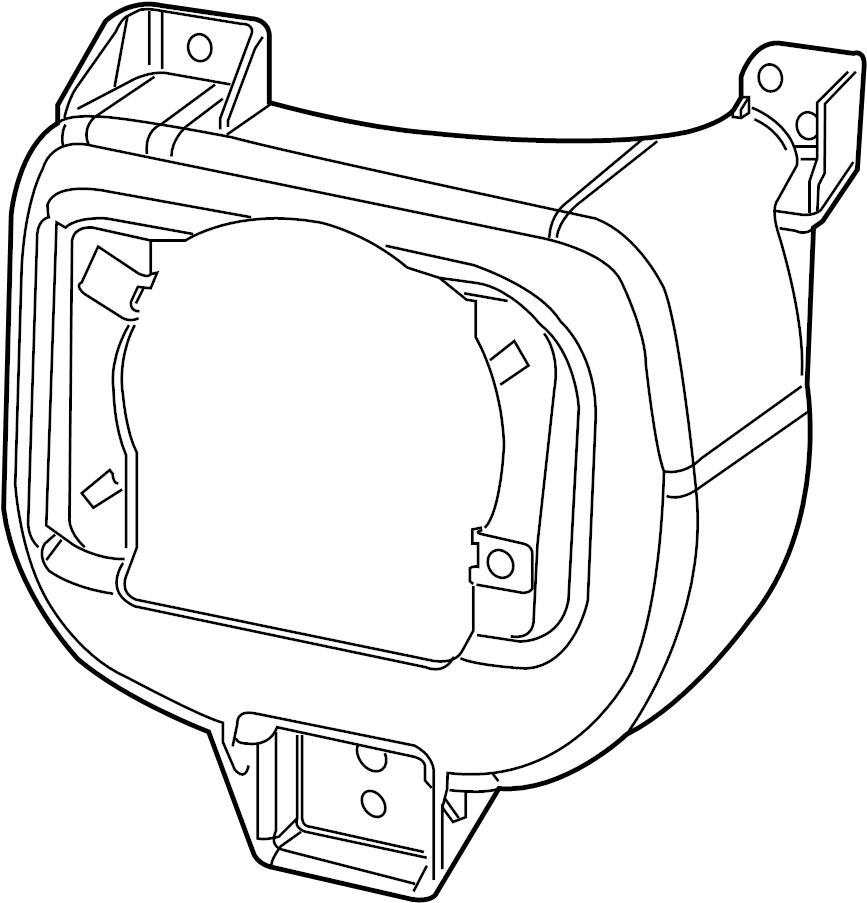 Subaru Impreza Fog Light Bracket (Right, Front). A bracket