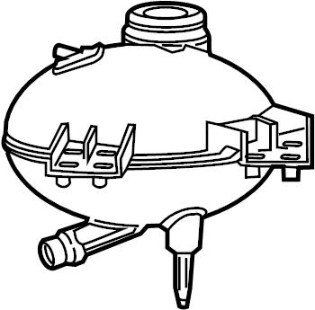 Subaru DL/GL/GL10/RS/RX Engine Coolant Reservoir. COOLING
