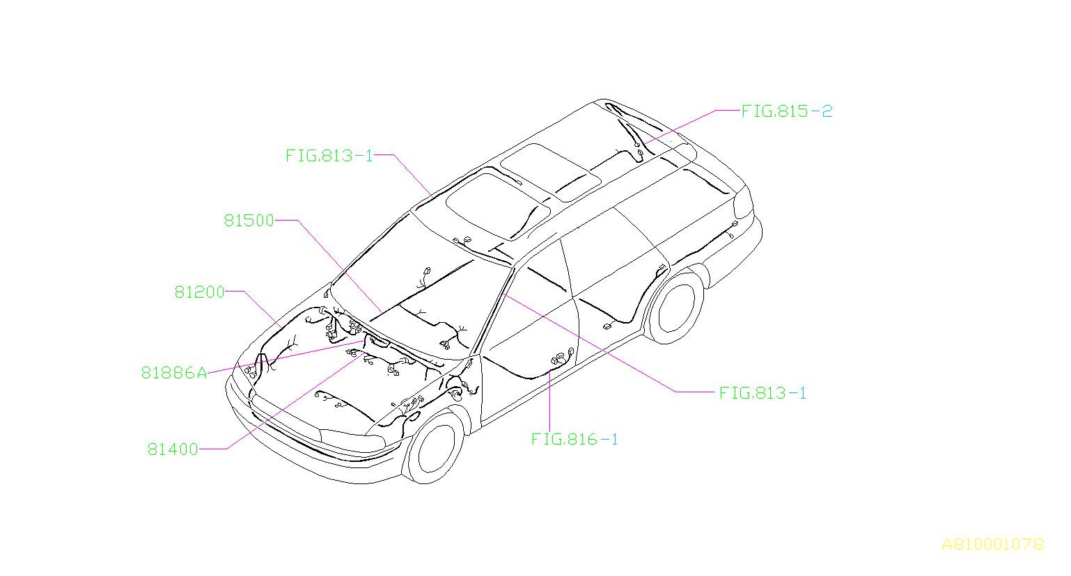 Subaru Legacy Cord-instrument panel meter. C0utu0u1. Main