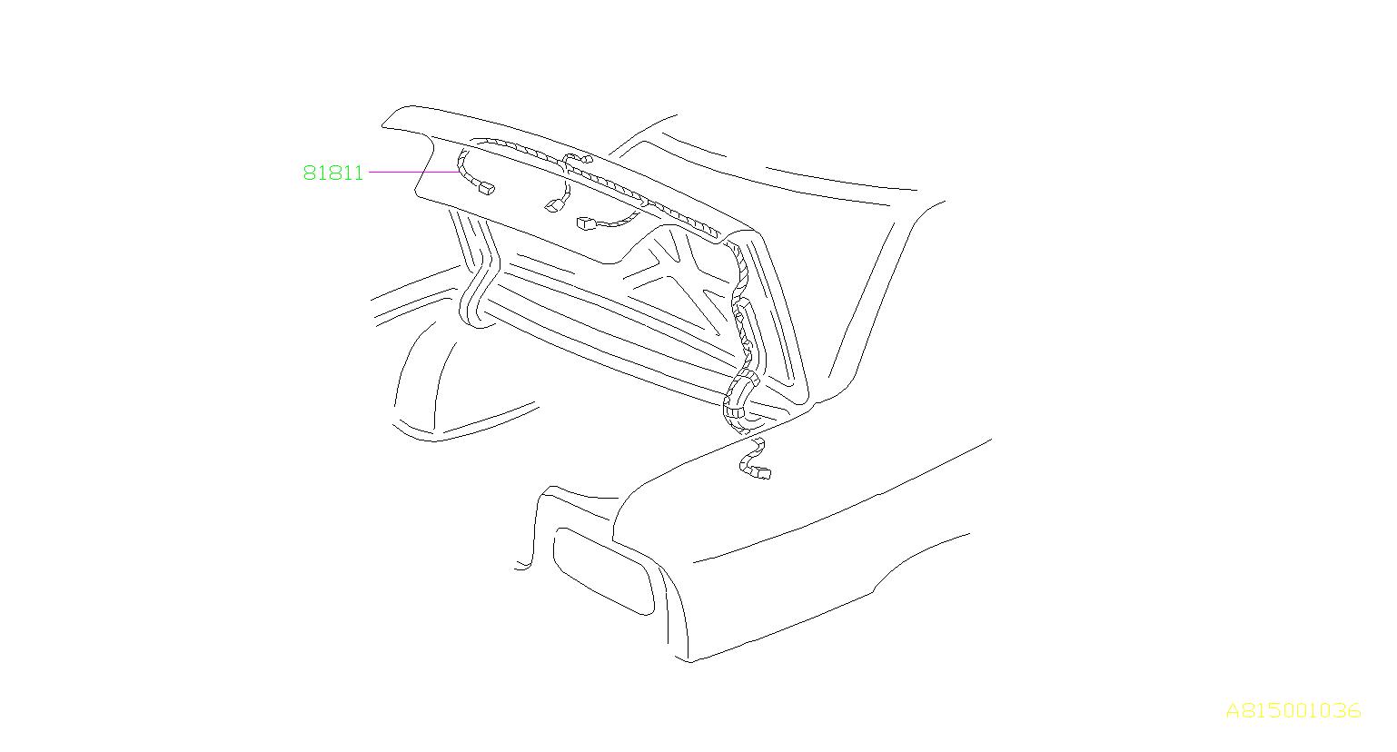 Subaru Legacy Cord-trunk lid. Rear, electrical