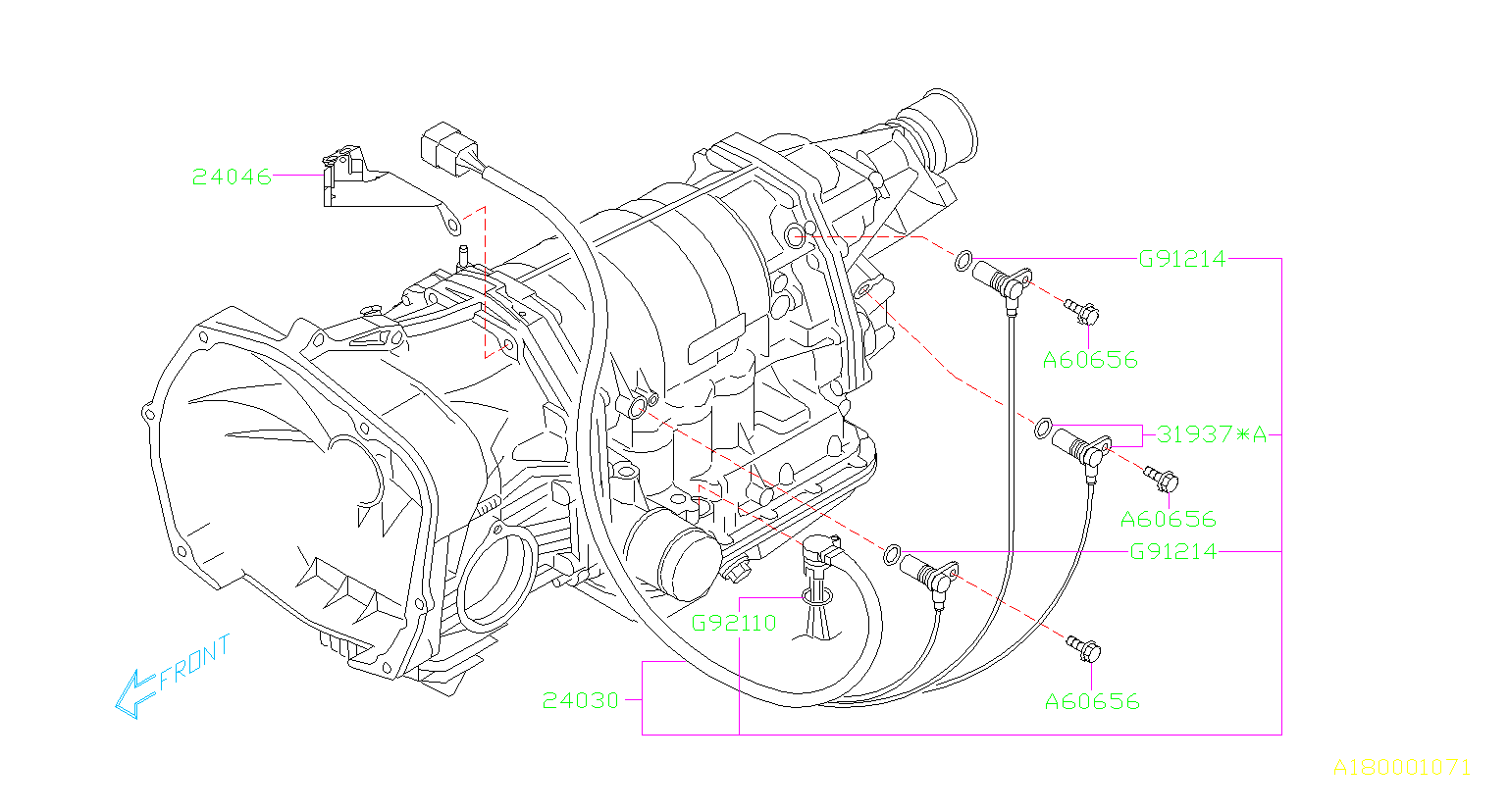 2006 Subaru Tribeca Sensor and harness assembly