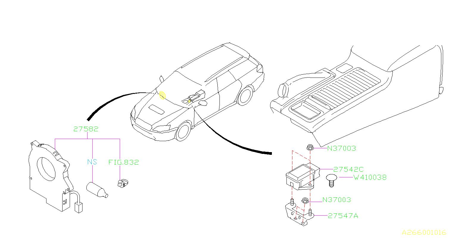 Subaru Outback Plug System Unit Shift