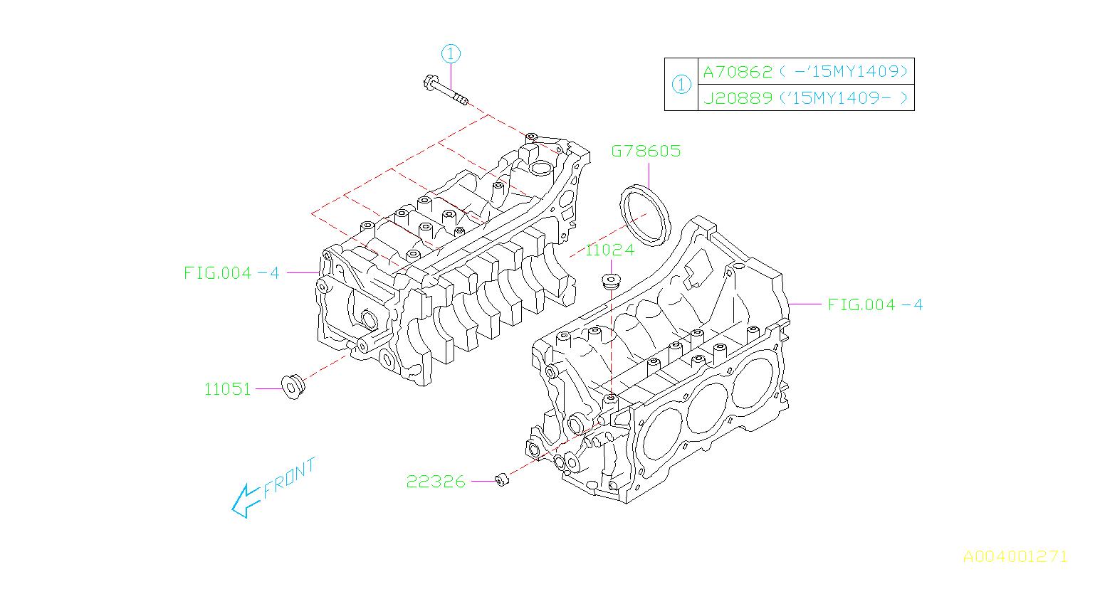 Subaru Legacy Cylinder Diagram