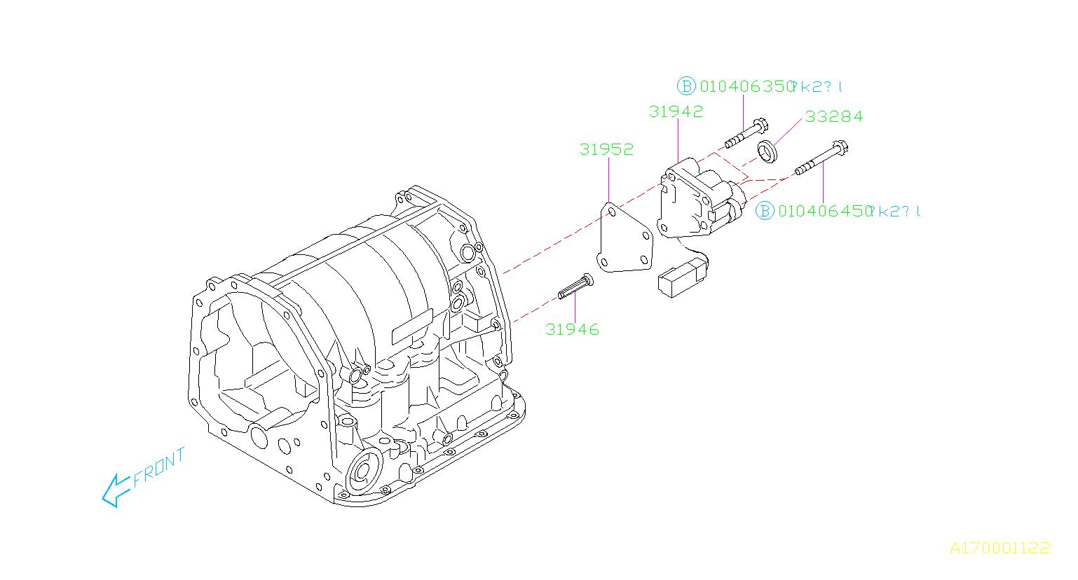 Subaru Impreza Plate-transfer valve. Extension