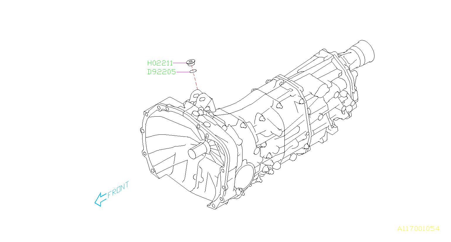 Subaru Impreza Plug. Transmission, maintenance, case