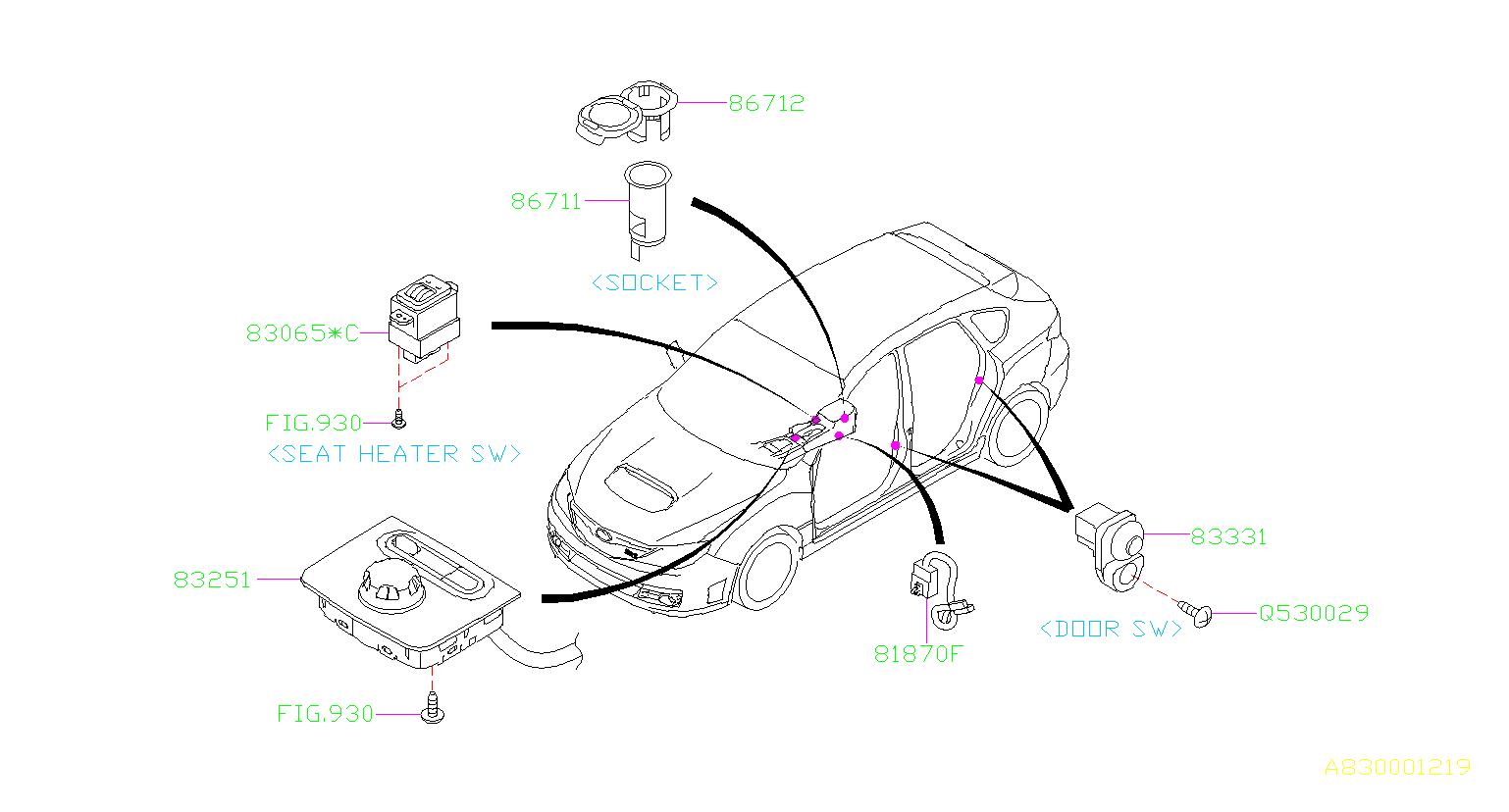 2014 Subaru STI Switch assembly-multi select
