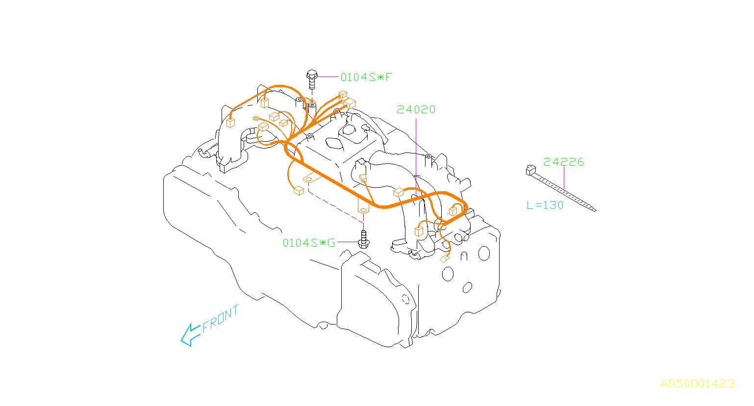 Subaru Forester Flange bolt. Manifold, intake, engine