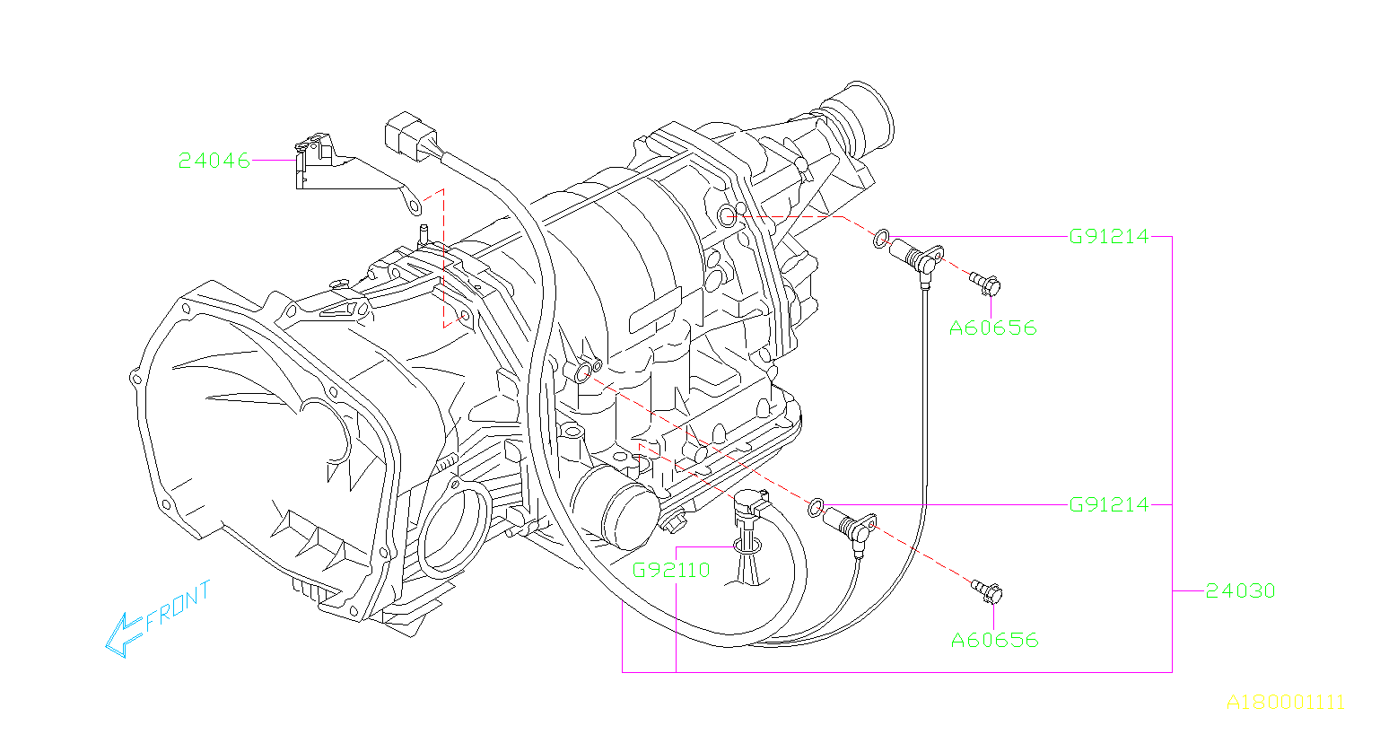 Subaru Forester Sensor and harness assembly transmission