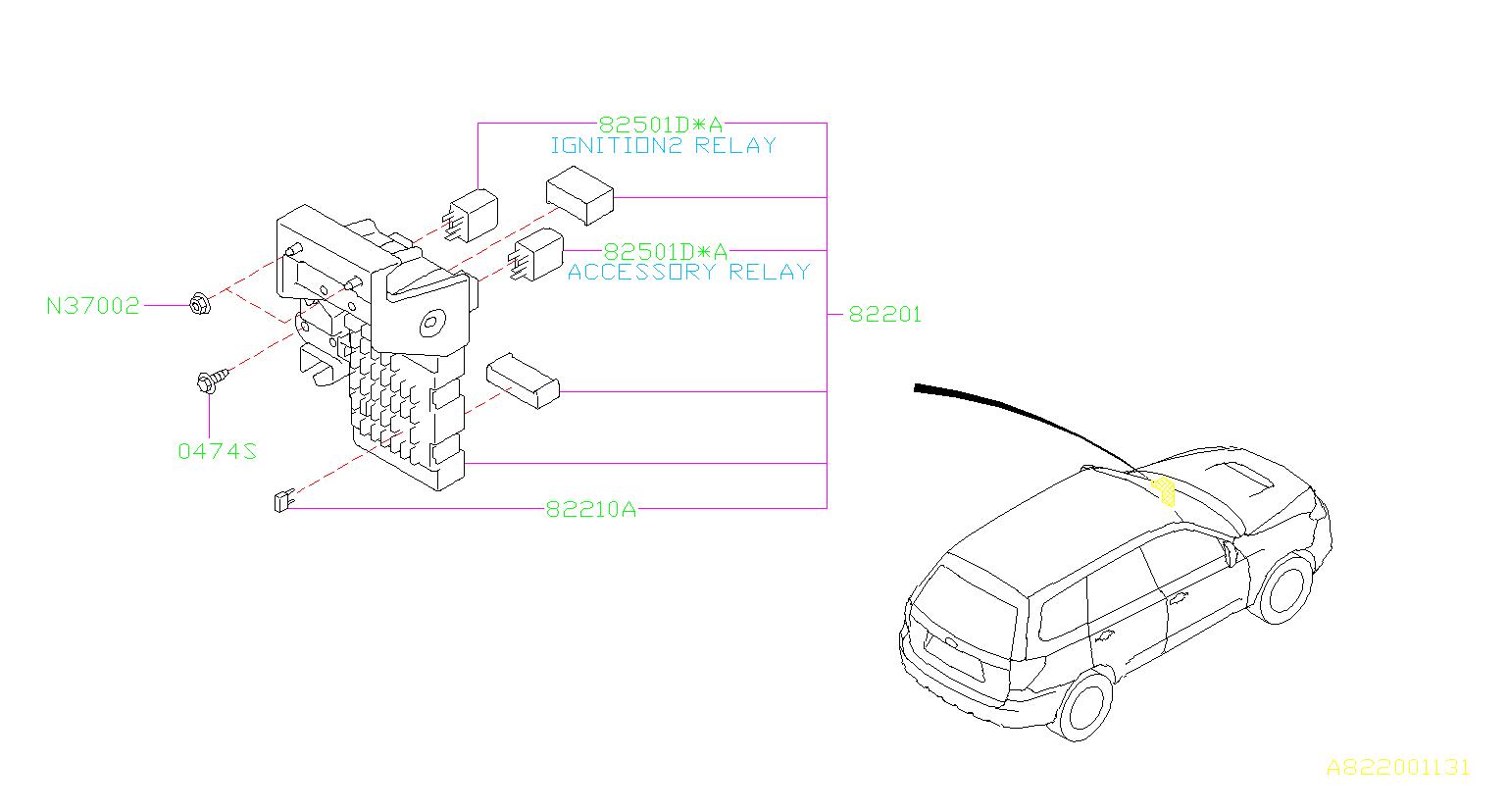 Subaru Forester Relay Box Fuse Main